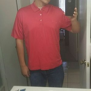 Red Brooks Brothers Country Club polo